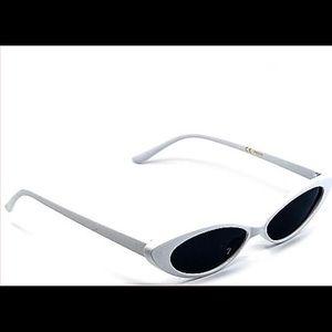 Accessories - Small Cat Eye White Glasses